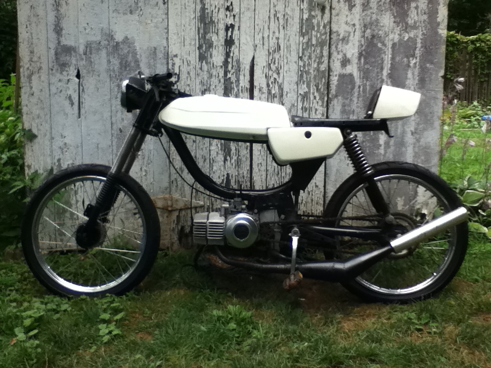 Puch Magnum White Cafe Racer